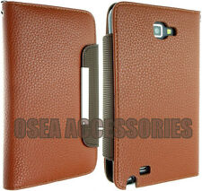 FOR SAMSUNG GALAXY NOTE 1 I9220 LEATHER CASE COVER WALLET POUCH N7000 FLIP BACK