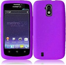 Sprint Boost Force N9100 Rubber SILICONE Skin Soft Gel Case Phone Cover Purple