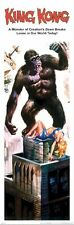 KING KONG 1933 ~ MONSTER BREAKS LOOSE ~ 12x36 MOVIE POSTER ~ NEW/ROLLED!