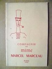 1952 Theatre Sarah Bernhardt- La Compagnie De Mime Marcel Marceau