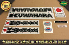 Kuwahara APOLLO BMX Decal Stickers - 1980-1982 Black - Factory Correct!