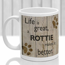 Rottweiler dog mug, Rottie dog gift, ideal present for dog lover