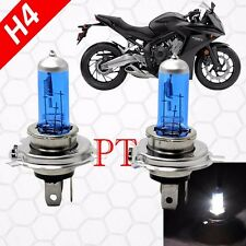 H4 9003 HB2 12V 60/55W Halogen Headlight Light Bulbs 5000K White Motorcycle