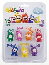 Oddbods Mini Figurine Set  Bubbles Pogo Slick Zee Stocking Filler Fuse Jeff Newt