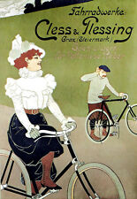 Art Deco - German  Bicycle Cycle Bike Advert - A3 Art Poster Print