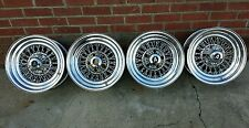 1974 APPLIANCE  WIRE WHEELS  15 X 7 4 3/4 VINTAGE  SET OF 4 RIMS CHEVY GM