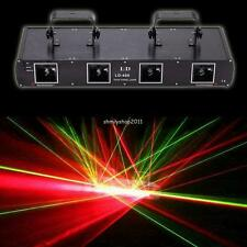 4 Lens Laser light DMX 260mW Licht Bühnenbeleuchtung DMX512 Stage DJ Equipment