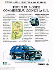 PUBLICITE ADVERTISING 065  1994   OPEL FRONTERA  4X4 INDIANA