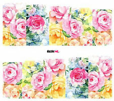 Nail Art Sticker Water Decals Transfer Flowers Roses (DC195)