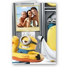 Personalised Photo Minions Birthday, Christmas All Occasions A5 Card