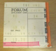 1973 THE WHO FORUM LOS ANGELES CONCERT TICKET STUB QUADROPHENIA TOUR KEITH MOON