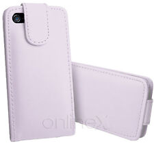 Funda Carcasa Piel Polipiel para Iphone 5 Color  Blanco a1101