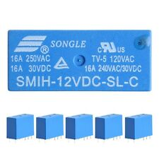 10Pcs SMIH-12VDC-SL-C Relays 12V 16A 250V 8 Pin One Conversion Set