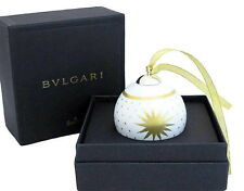 NEW AUTHENTIC BVLGARI Rosenthal Christmas Ornament Ball Charm Porcelain/Gold