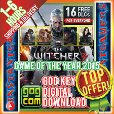 THE WITCHER 3 WITCHER III WILD HUNT KEY CODE SERIAL DL [PC] [GAME OF THE YEAR]