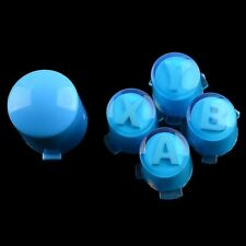 Replacement ABXY & Guide Buttons Parts For Xbox 360 Controller Transparent Blue