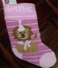 Christmas Stocking - Pink Baby's First - adorable stocking in shades of pink