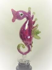 Seahorse Wine Bottle Stopper Hand Blown Art Glass Bar Accessory (D)