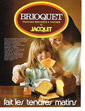PUBLICITE ADVERTISING 014   1971   JACQUET   pain brioché BIOQUET