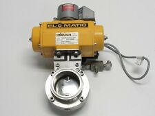 "El-O-Matic 3"" Air Actuated Butterfly Valve Tri-Clamp"