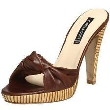 New Claudia Ciuti Womens Platform Sandal Shoe size 10 Brown Heel Designer