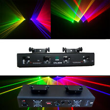 NEW ITEM 4 Lens 360mW RGYV DMX Laser Light Disco DJ  Stage Party Lighting