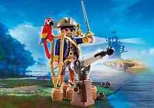 Playmobil Piratas Ref 6684 Capitan Pirata con Loro y Cañon, NUEVO en Caja