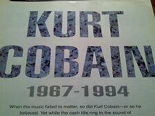 Kurt Cobain Nirvana Tribute from 1990's 7 Pages with A4 Poster to Frame