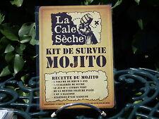 PLAQUE METAL RUE DECORATION 15x21cm MOJITO bar bistrot pub apéro alcool rhum