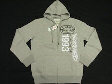 $58 NWT NEW Mens Ecko Unltd Vertical Hoodie Sweatshirt Grey Urban Size XL L871