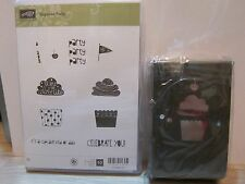 "Stampin Up ""Cupcake Party"" Clear-Mount Stamp Set + Build-A-Cupcake Punch"