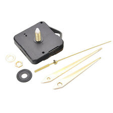Quartz Wall Clock Movement Mechanism DIY Repair Parts 22mm Spindle + gold Hands
