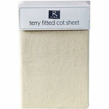 TERRY TOWELING FITTED COT SHEET CREAM