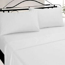 6 NEW WHITE KING SIZE T180 PILLOW CASES HOTEL QUALITY 20''x40''