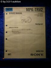 Sony Service Manual MPK TRV2 Marine Pack (#5939)