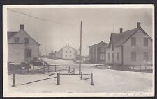Circa 1920 Real Photo RPPC Postcard Winter Streetview ST. GERARD Quebec