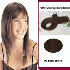 6A+ 20-40PCS 100g Tape In Seamless Skin Weft Remy Real Human Hair Extension QN43