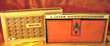 NOS BUXTON 'Much Clutch' Wallet Organizer~Rust Colored TOP GRAIN COWHIDE~Boxed