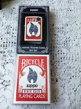 ZIPPO BICYCLE LIGHTER/PLAYING CARDS GIFT SET NEW