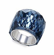 NEW RARE COLLECTOR'S SWAROVSKI NIRVANA RING BLUE MONTANA CRYSTAL SIZE 7, 55