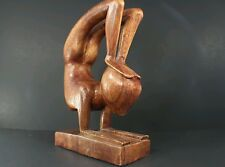 Abstract Sculpture Gymnast Artist Hand Carved Wood NOVICA Bali