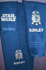 Star Wars R2D2 Droid Personalized 3 Piece Bath Towel Set Any Color Choice