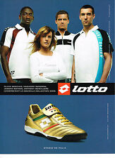 PUBLICITE ADVERTISING 094  2008  LOTTO    chaussures sport baskets STADIO 90