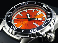 New Deep Blue 45mm ProAqua Automatic Sapphire Crystal 1500M Orange Dial SS Watch