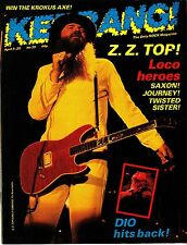 Kerrang! Magazine #39 Z.Z. Billy Gibbons Top Saxon Journey Twisted Sister Dio