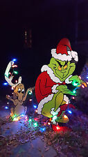 Grinch Yard art The Grinch and Max are stealing Christmas!! yard art decoration