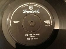 THE CHI - LITES . IT'S TIME FOR LOVE  / THE COLDEST DAYS OF MY LIFE . 1975