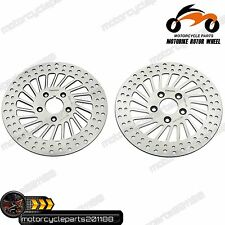 "11.5"" Stainless Steel Front + Rear Disc Disk Brake Rotors HARLEY FXDB Wide Rider"