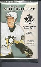 2005-06 SP AUTHENTIC HOCKEY PACK POSSIBLE AUTO RC OF CROSBY, OVECHKIN LUNDQVIUST