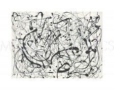 "POLLOCK JACKSON - NUMBER 14: GRAY - ARTWORK REPRODUCTION  11"" x 14"" (1070)"